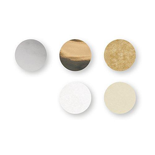 Rayher 87099000 Konfetti, Ø 2cm, 30g, silber/gold/creme/weiß, Seidenpapier, Dekoration für Geburtstag und Hochzeit, Füllung für Bubble Ballons