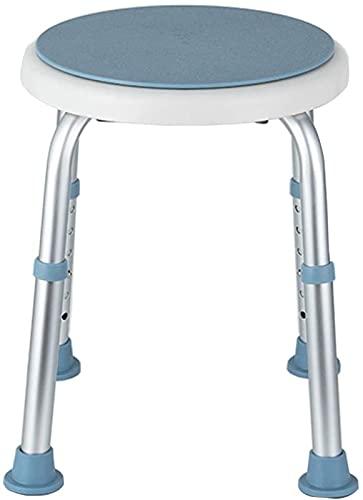 Taburete de Ducha Taburetes de baño, silla de ducha redonda giratoria con asiento giratorio  Ajustable en 6 altura  Transferencia de ayuda para discapacitados, personas mayores, bariátrica, mujer emba