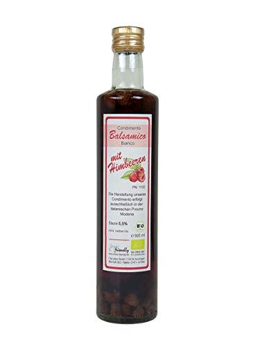 direct&friendly Bio Himbeer Essig, Condimento Balsamico mit ganzen Himbeeren (500 ml)