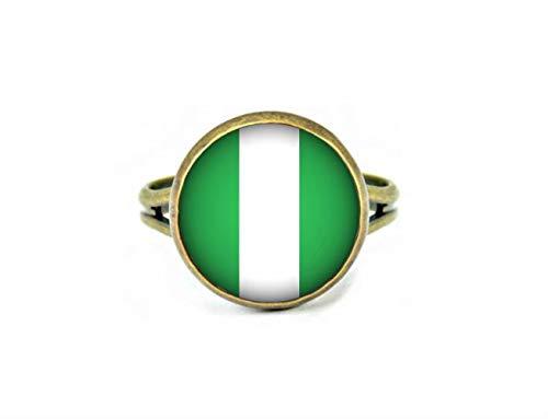Xubu Nationale Symbool Vlag Sieraden, Nigeriaanse Vlag Ringen, Nationale Vlag Ringen