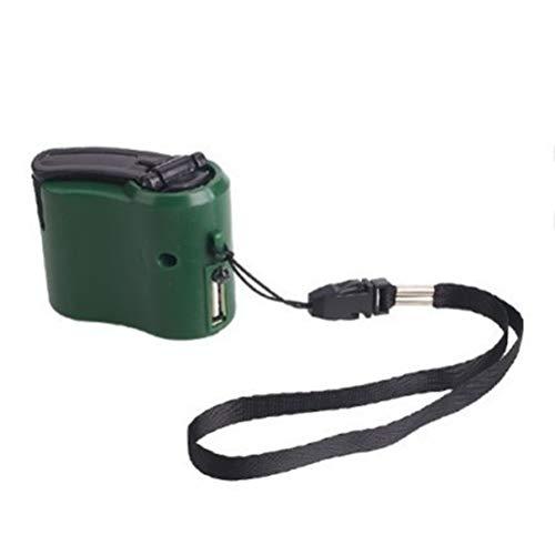 Ahagut Cargador de manivela Manual, Cambiador de Dinamo Generador de manivela Manual, Cargador USB, Adaptador de Carga rápida para teléfonos celulares (Verde)