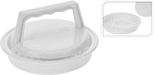 BBQ Molde Hamburguesas, Blanco, 13 x 2,5 x 15 cm