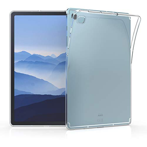 kwmobile Schutzhülle kompatibel mit Samsung Galaxy Tab S6 Lite - Hülle - Silikon Tablet Cover Hülle Transparent