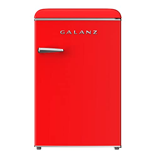 Galanz GLF31URDR Electric Mini Compact Upright Freezer Adjustable Mechanical Temperature Control,...