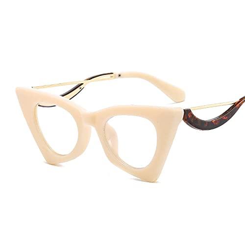 ShZyywrl Gafas De Sol De Moda Unisex Moda Cat Eye Womans Gafas Lentes Marcos Pequeños Mujeres Gafas TransparentesMonturas De Anteojos 14