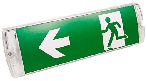 McShine - LED Fluchtwegleuchte | FL-511 | IP65 | Exit Schild 230V | Notausgangsschild zur Wandmontage