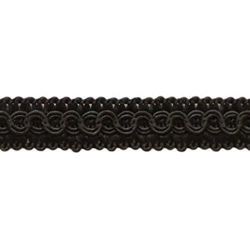 K9, 13.5 Yards of 1//2 Basic Trim Decorative Gimp Braid 41 Ft // 12.5 Meters Style# 0050SG Color: Black