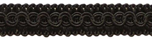 13mm Basic Trim Decorative Gimp Braid, Style# 0050SG Color: BLACK - K9, Sold by the Yard (91cm / 3 Ft / 36\