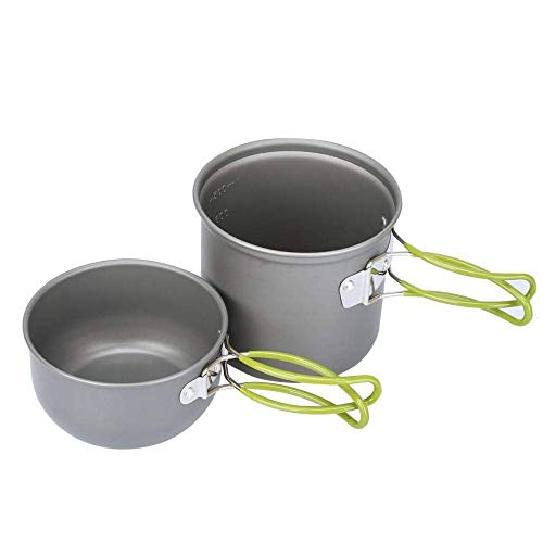 XHLLX Camping Cookware,Cookware Set 1-2 People Picnic Cookware,Lightweight And Durable Pot