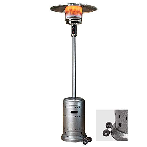 WormHeater 46,000-BTU Propane Patio Heaters, Standing Outdoor Heater with Wheels