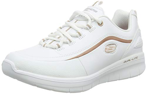 Skechers Women's SYNERGY 2.0-HEAVY METAL Trainers, White (White Rose Gold Wtrg), 6 (39 EU)