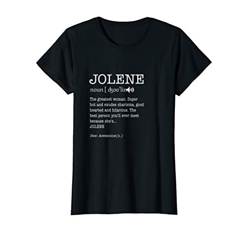 The Name's Jolene Funny Adult Definition Women Personalized T-Shirt