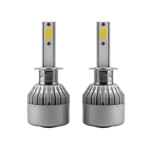 Wckxy Bombilla H1 llevó la Linterna, 2 Piezas de C9 H1 18W 1800LM 6000K IP68 a Prueba de Agua del Coche LED Linterna Auto con 2 Bombillas LED, DC 9-36V (Color : White Light)