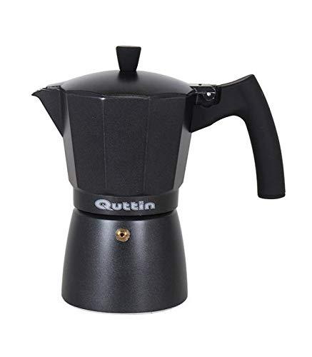 Quttin Cafetera Italiana Quttin Darkblack Inducción Negro