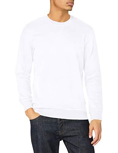 edc by ESPRIT Herren 990CC2J301 Sweatshirt, 100/WHITE, XXL