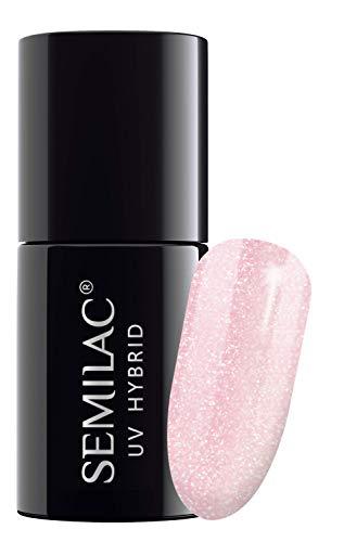 semilac UV Hybrid Nagellack, Anzahl 164, 7ml, Pink Kristallen