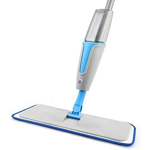 Adesign Floor Mop, Microfibra Spray Mop con 2 Reutilizables Pads, de 360 Grados fregona de la Vuelta Adecuado for la Madera Dura, mármol, Azulejos, baldosas, Laminado, o Pisos de cerámica