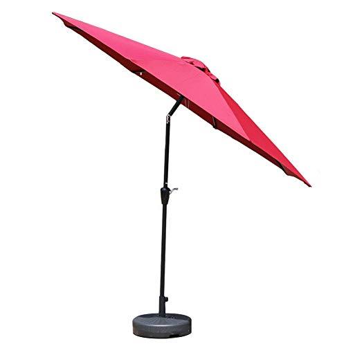 GBTB Paraguas de Mesa de jardín de Patio al Aire Libre de 9 pies con Ajuste de inclinación, Exteriores, Mercado de Eventos comerciales en la Playa, Camping, Lado de la Piscina (Colo