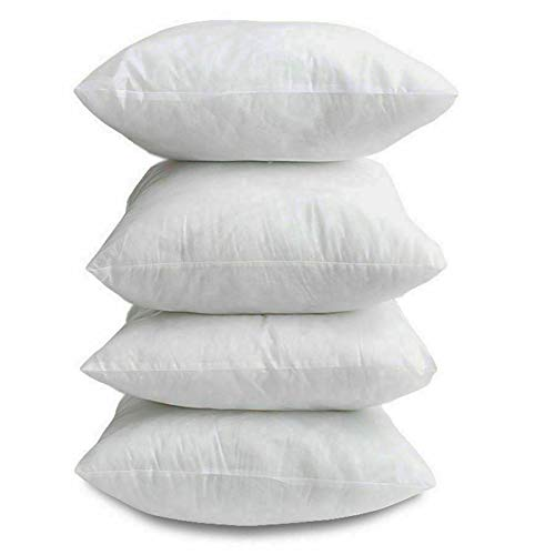 VL Pack of 4 Extra Deep Filled Cushion Pads 100 Percent Polyester Hollowfibre Inserts Fillers Scatters (26x26)