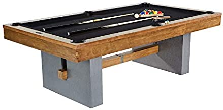 Barrington Urban Professional Billiard Pool Table, Full Set with Accessories, Standard 8 Foot - Modern and Stylish Wooden Playing Tables with Balls, Cues, Rack - Billiards Game Complete Sets