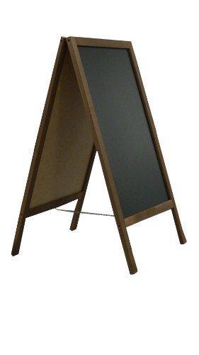 DWA Kundenstopper Kreidetafel Gehwegaufsteller Werbetafel Holz 100x60 cm FL2