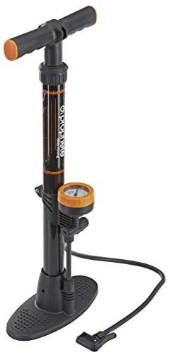 Prophete Stand-Luftpumpe mit Manometer Länge 560 mm Gehäuse Kunststoff und Duo-Kopf für alle Ventile, 546
