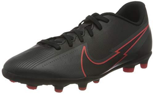 Nike Vapor 13 Club FG/MG Futsal-Schuh, Black/Black-DK Smoke Grey, 36 EU