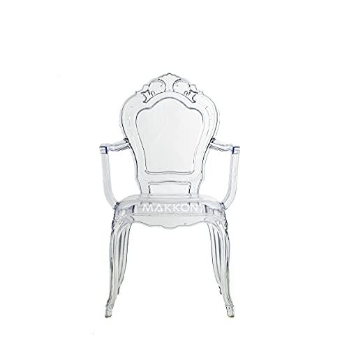 Cadeira Belle Epoque Transparente com Braço MK-955 - Makkon