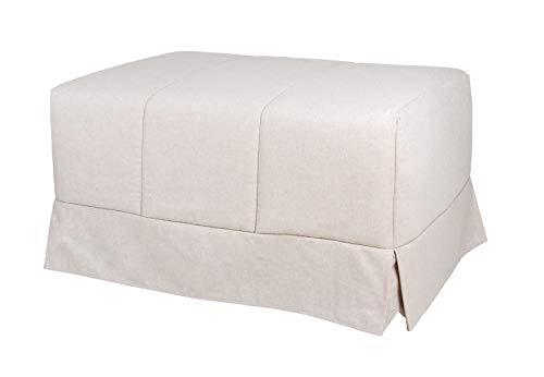 Quality Mobles - Cama Plegable Individual de 90x190 cm Funda Color Arena