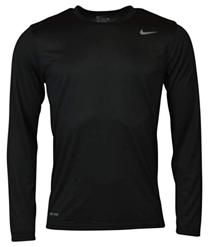 Nike 718837-010 Dry-Fit Mens LS Tee - Black - X-Large
