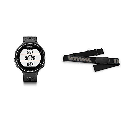 Garmin Forerunner 235, GPS Running Watch, Black/Gray Bundle with Garmin HRM-Dual Heart Rate Monitor