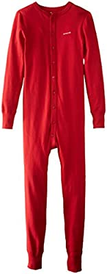Carhartt Men's Big and Tall Force Classic Thermal Base Layer Union Suit, Red, 3X-Large