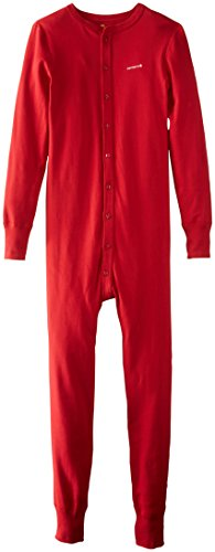 Carhartt Men's Force Classic Thermal Base Layer Union Suit, Red, Large