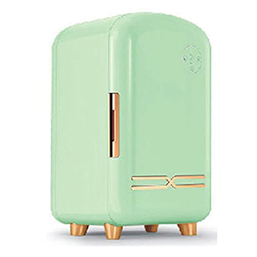HLW green12L Mini refrigerador, refrigerador cosmético Portable, refrigerador preservación del Calor Incorporado en la iluminación de la lámpara de luz de Relleno