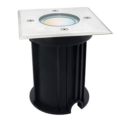 Foco LED pisable empotrable para suelo lámpara RGB luz camino jardín IP65 CCT
