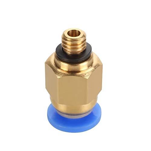 JIAN LIN 5pcs Pneumatic Connectors 3D Printers Parts Quick Jointer Feeding 1.75mm Filament Pipe Push Part 3D Printers Pneumatic Connector (Color : Blue, Size : PC4 M6)