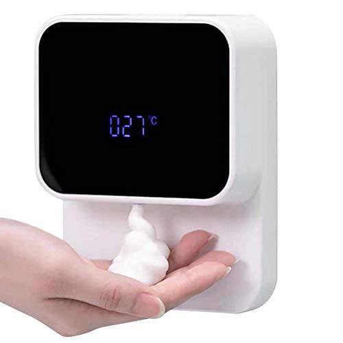 Dispensador de jabón automático de 280 ml, dispensador de jabón líquido sin Contacto con Sensor infrarrojo montado en la Pared con Pantalla LED para Cocina, baño, Hotel, Escuela
