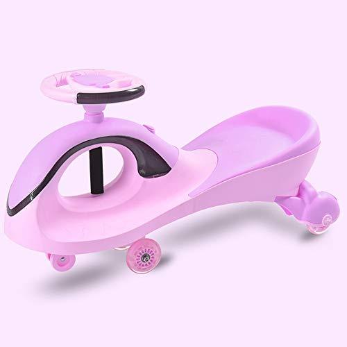 Xolye Anti-Druck Anti-Sturz Twisting Auto Wiegen Gravity Starke Kinderschaukel Auto Jungen-Mädchen-Silent-Dämpfende Scooter Anti-Rutsch-Verschleißfeste Yo-Auto (Color : Purple)