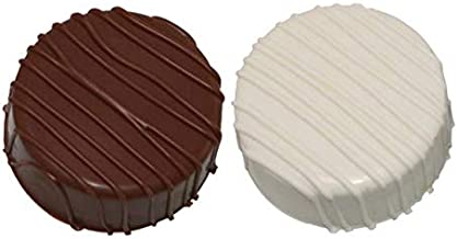 LuluPops by Lina White And Milk Chocolate Dipped Oreos - 6 Count - Three White Chocolate Dipped Oreo Cookies And Three Milk Chocolate Dipped Oreo Cookies