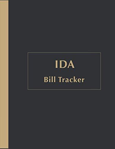 Ida Bill Payments Tracker: Custom Planner Navy Monthly Bill: Payment Organizer and Debt Tracker Keeper Log Book Money Planner Journal Budget Money Debt Tracker Notebook