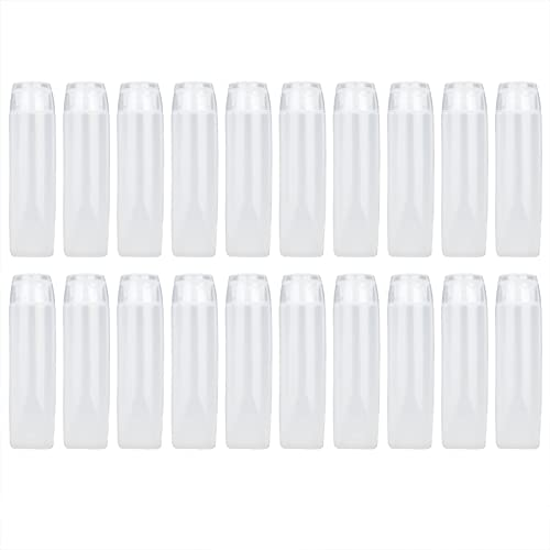Tubos cosméticos vacíos, a prueba de fugas, plástico vacío, tubos suaves, plástico, 20 piezas para loción corporal para mujeres, gel de ducha para champú(30ml)