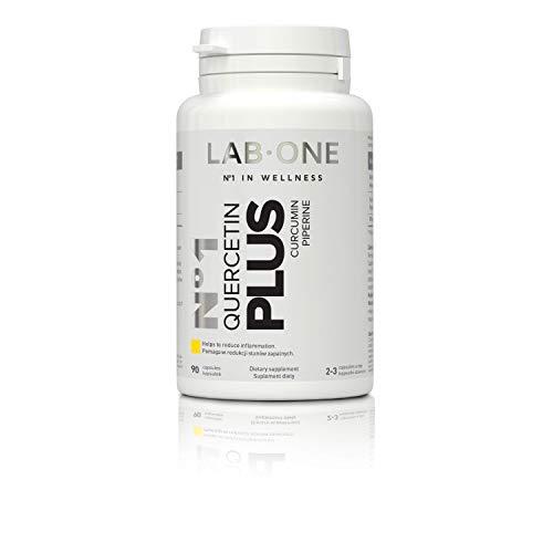 LAB ONE N°1 Quercetin PLUS COMPOSITION of CURSOL™ (Curcumina) Pepe nero (95% piperina) 90 capsule