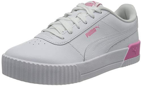 PUMA Carina L JR, Basket, White White Sachet Pink, 37 EU