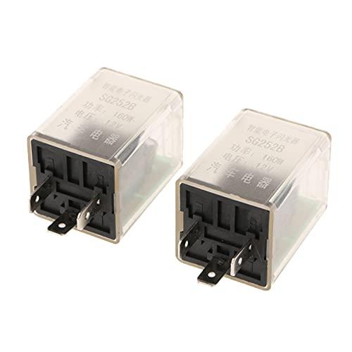 qinqin 1 par de automóviles de 3 Clavijas LED electrónico 12V Flasher Relay Fix Fit para la señal de Giro Blinker