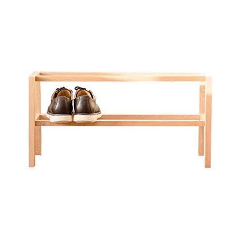 XXCHUIJU Zapato Estante Zapato Estante de Madera Simple 2 Niveles Almacenamiento gabinete Pasillo apilable Organizador estantes Entrada Moderno Zapatos Organizador