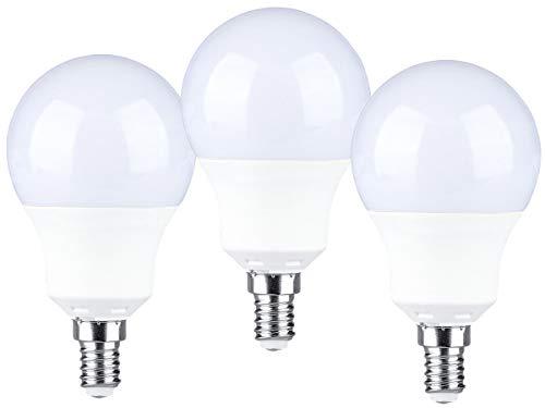 Ledlux - Bombillas LED - Caquillo E14 - 9W de potencia - 806 Lúmenes - 220V - Bombillas a forma de gota - Bombilla A60 - Cantidad 3 unidades