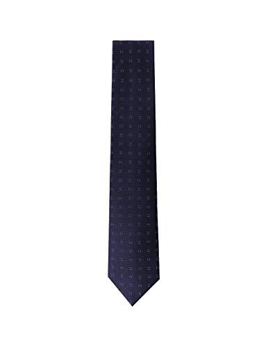 Corbata Hackett Marino de Seda Para Hombre 0