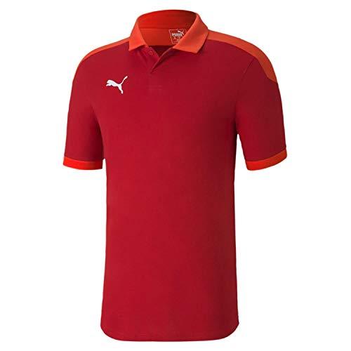 PUMA Herren teamFINAL 21 Sideline Polo Poloshirt, Chili Pepper Red, XL