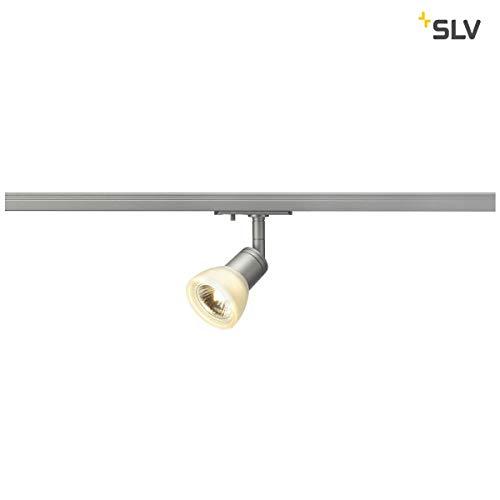 SLV LED Schienen-Strahler PURIA TRACK   Dreh- und schwenkbarer 1-Phasen-Strahler, LED Spot, Deckenstrahler, Deckenleuchte, Schienensystem, Innenbeleuchtung, 1P-Lampe   GU10 QPAR51, max. EEK E-A++