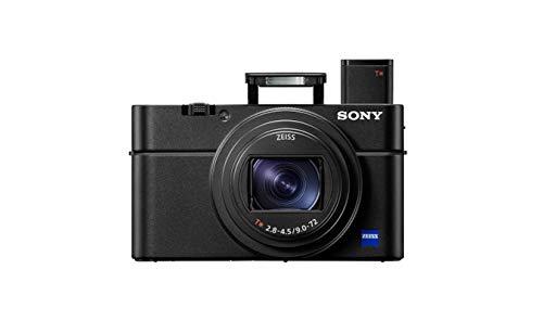 Sony RX100 VII | Premium Bridge-Kamera (1,0-Typ-Sensor, 24-200 mm F2.8-4.5 Zeiss-Objektiv, Autofokus zur Augenverfolgung für Mensch und Tier, 4K-Filmaufnahmen und neigbares Display), Schwarz